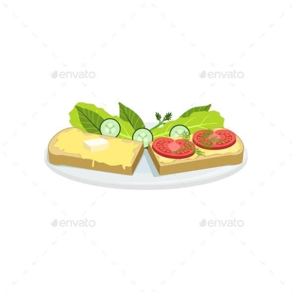 Bruschetta European Cuisine Food Menu Item
