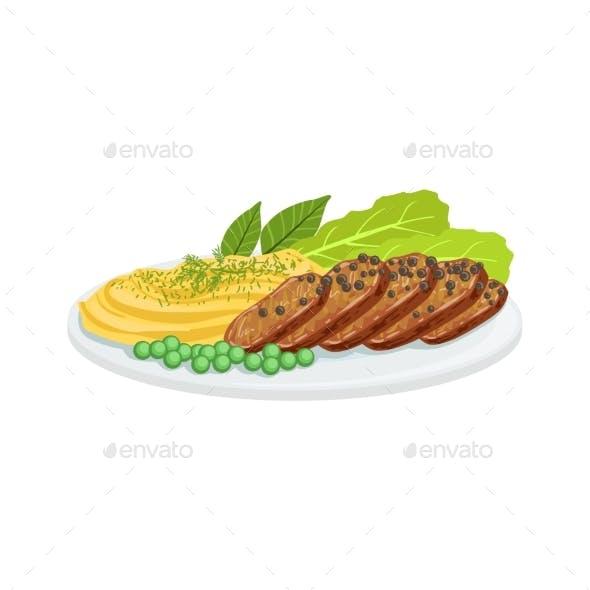 Pepper Meat European Cuisine Food Menu Item