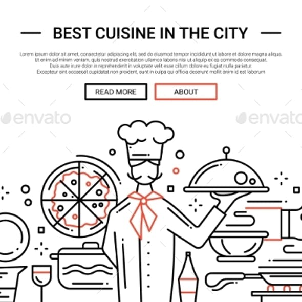 Cuisine In The City - Line Design Website