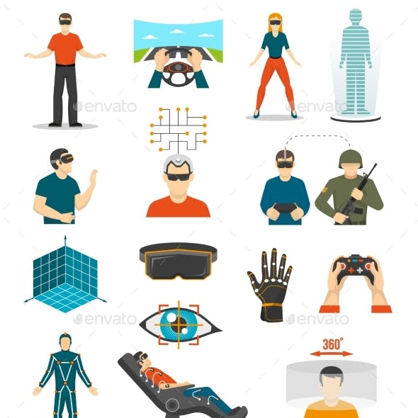 Virtual Reality Video Games Set