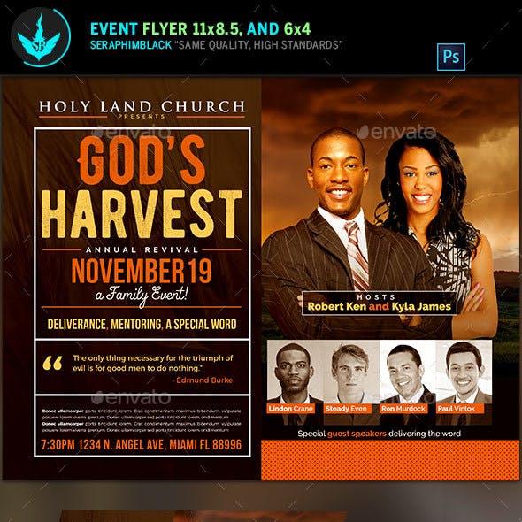 God's Harvest Revival Flyer Template