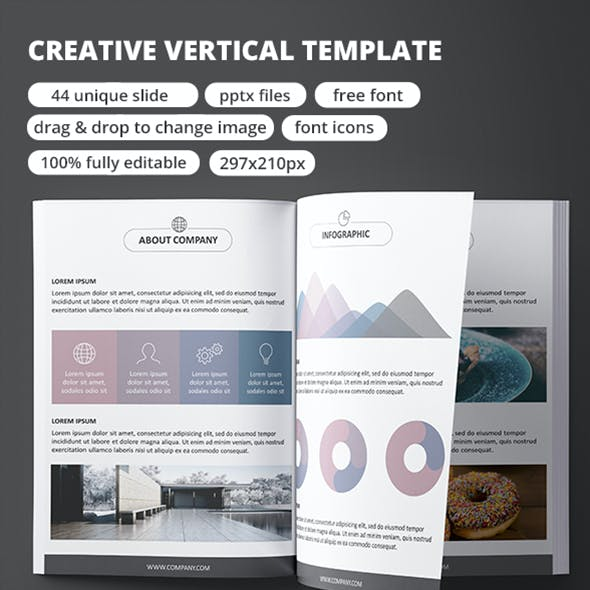 Creative Vertical - PowerPoint Template