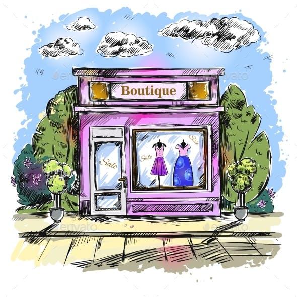 Market Clothing Boutique Outdoor Composition