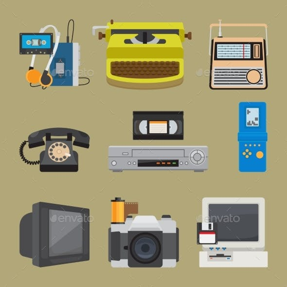 Retro Gadgets Icons