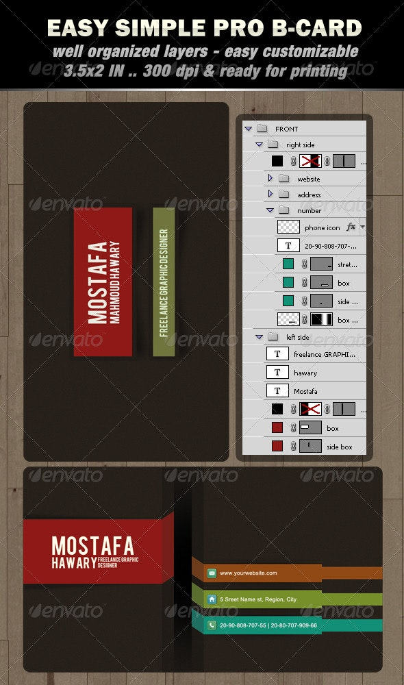 Easy Simple Pro B-card - Creative Business Cards