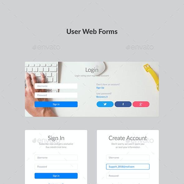 User Web Form