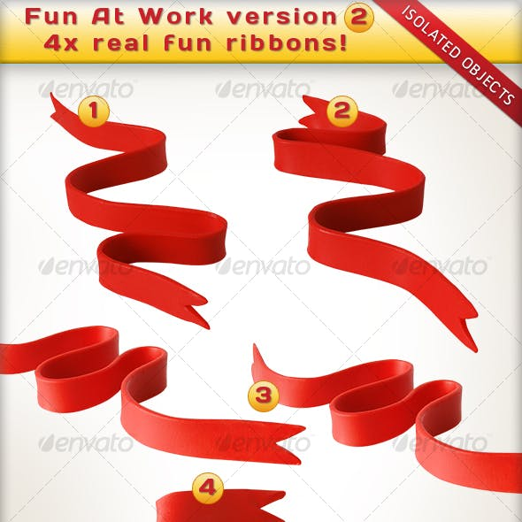 Fun At Work Ribbons - Twirls