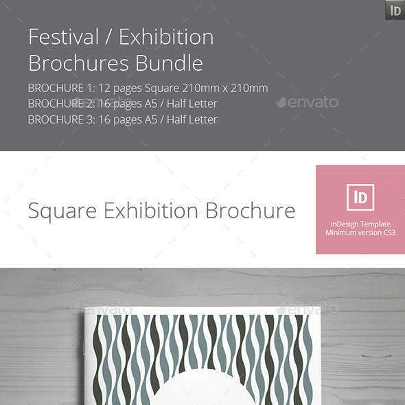 Festival / Exhibition Brochures Bundle