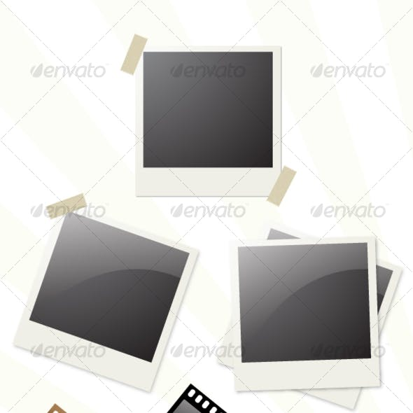 Realistic Snapshot Vector and Film Strip