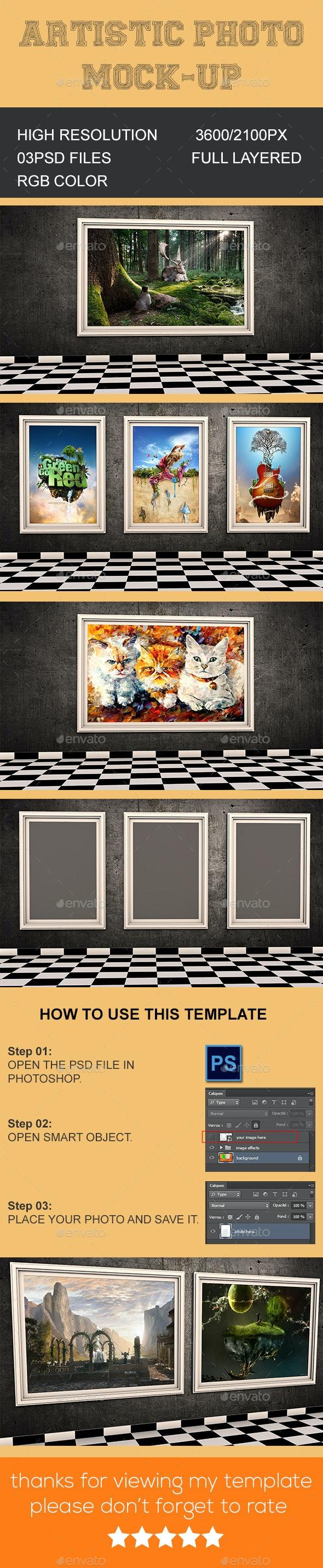 Artistic Photo Mock-up - Artistic Photo Templates