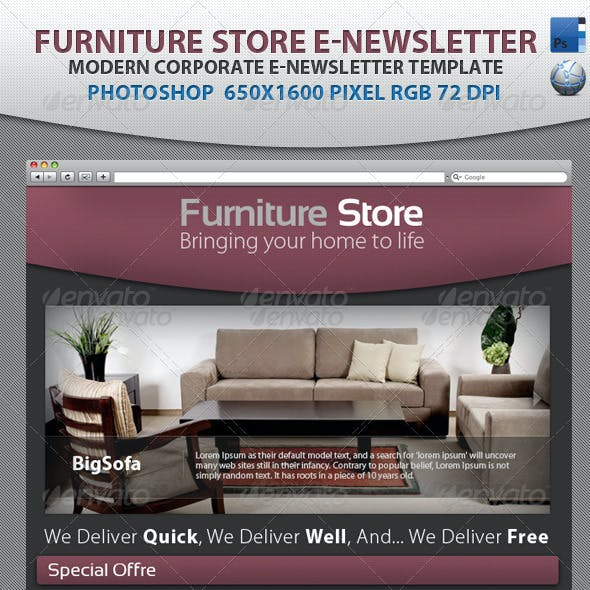 Professional Furniture Store E-newsletter template