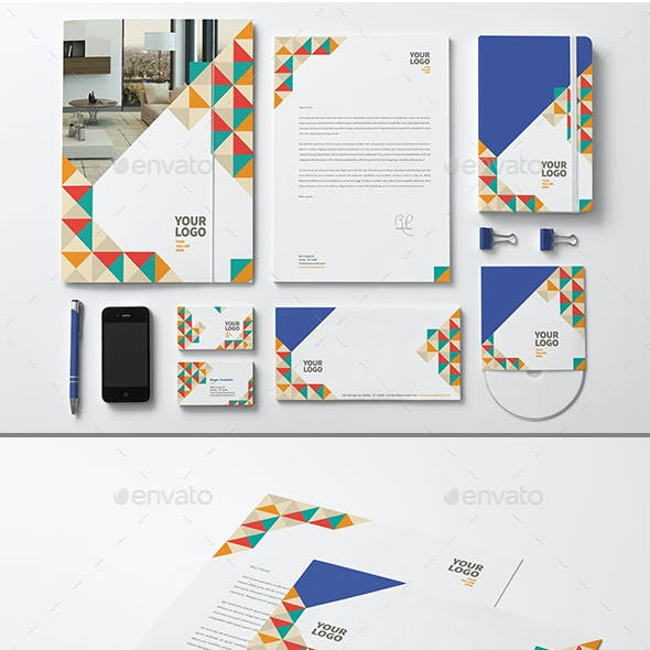 Colorful Stationery Pattern Design