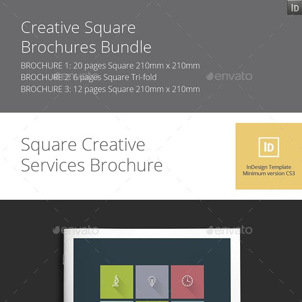 Creative Square Brochures Bundle