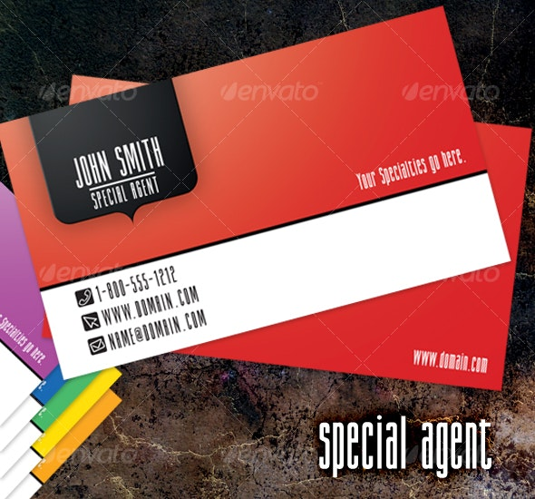 Special Agent - Creative Business Cards