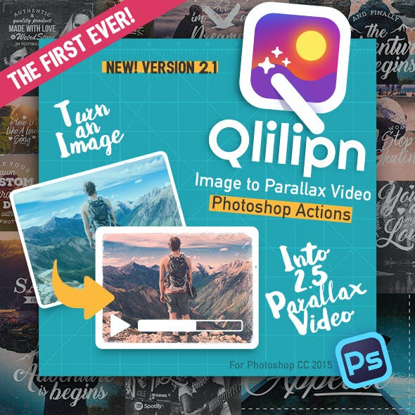 Qlilipn - Turn Image to 2.5D Parallax Video with Photoshop Actions