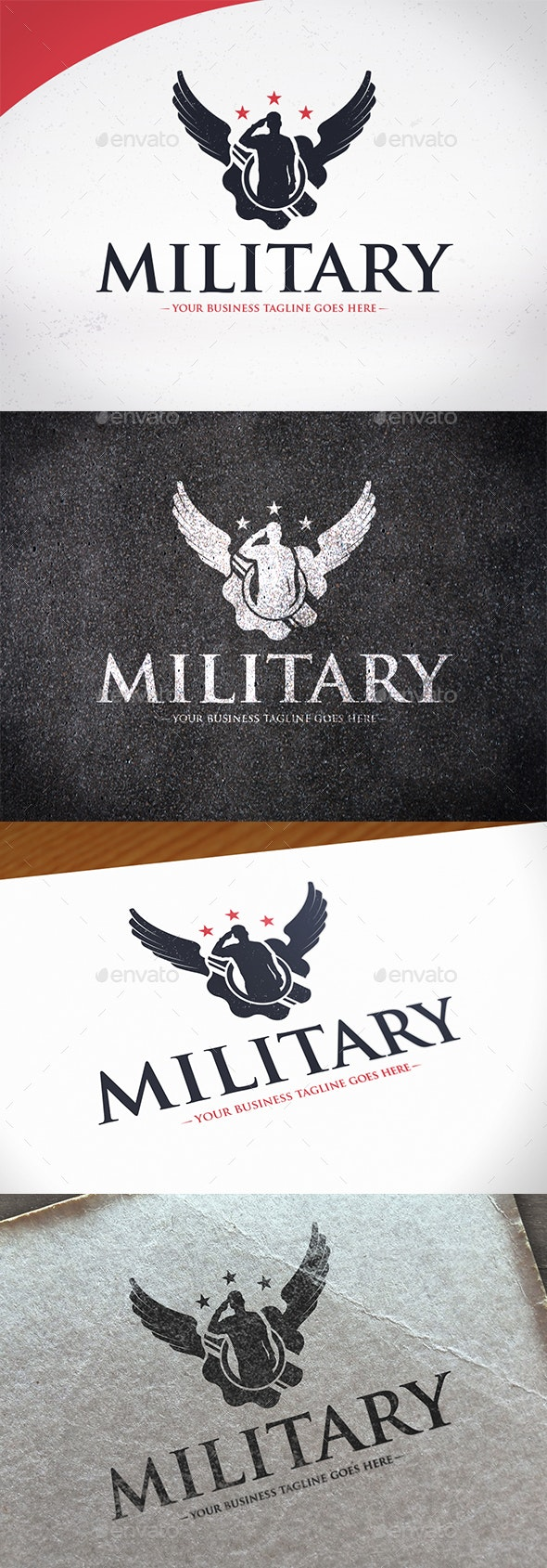 Army Wings Logo Template - Crests Logo Templates