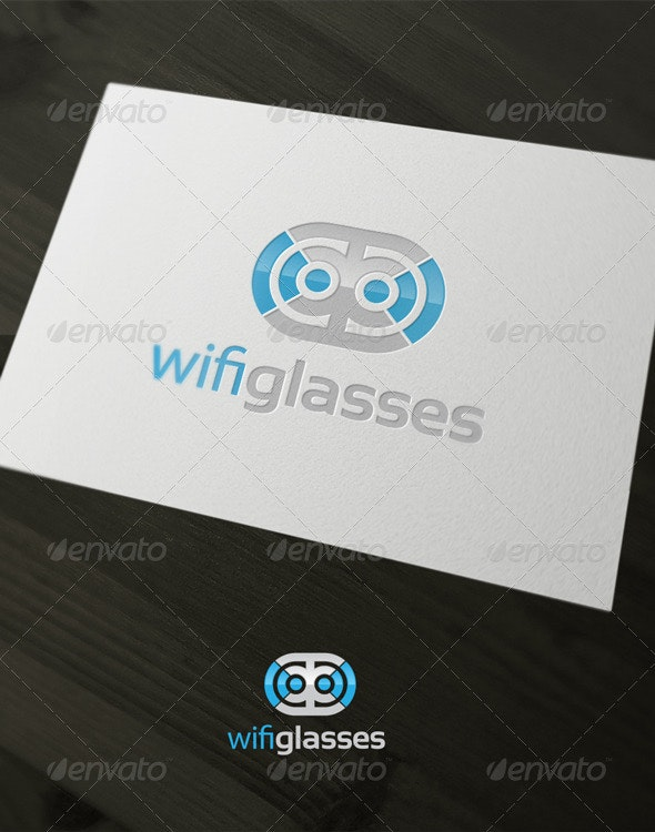 Wifi glasses - Vector Abstract