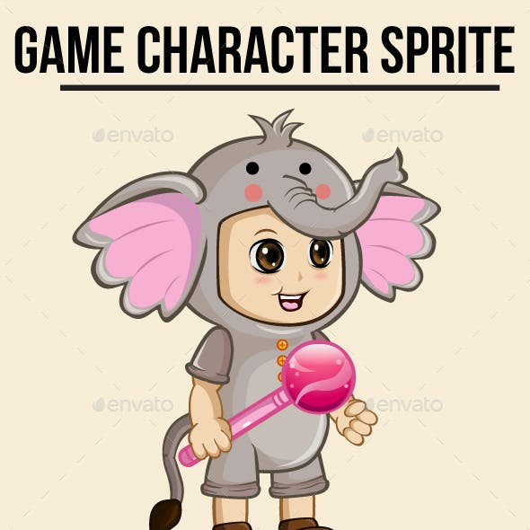 Girl in Costume Sprite Character