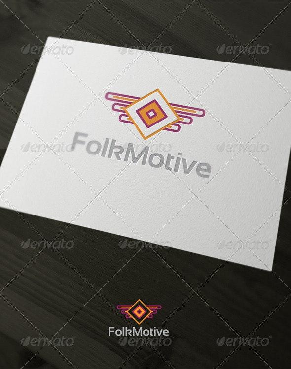 Folk Motive - Vector Abstract