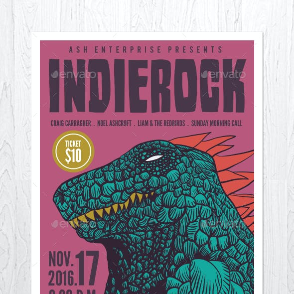 Indie Rock Vol. 2 Flyer