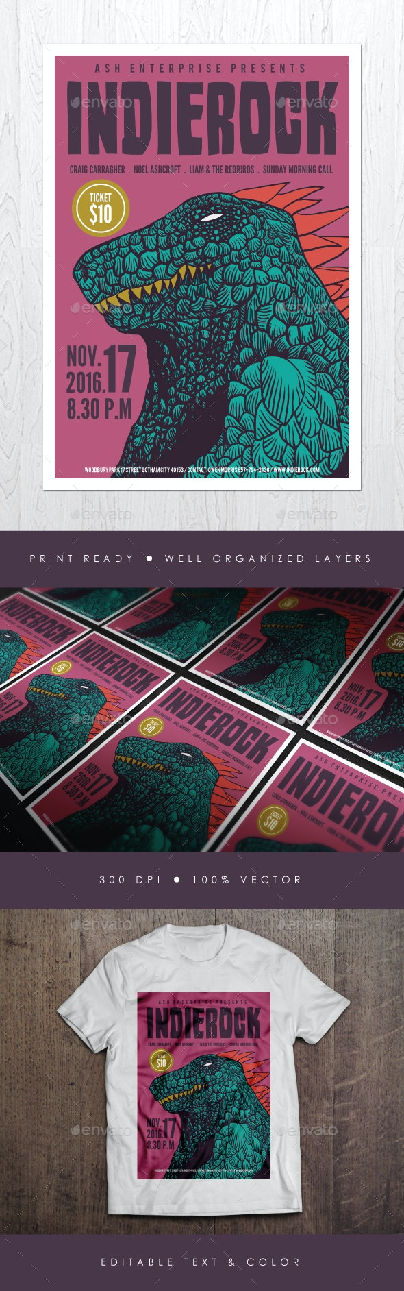 Indie Rock Vol. 2 Flyer - Events Flyers