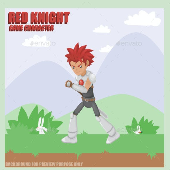 Red Knight Sprite Character