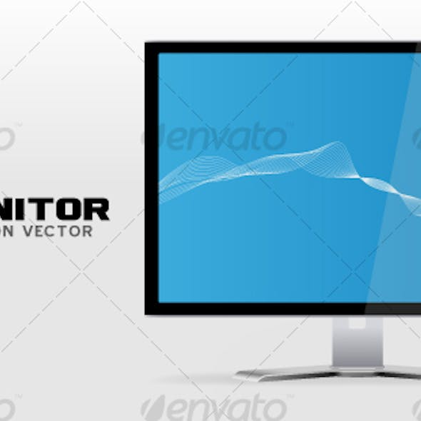 High resolution LCD Monitor / Display vector