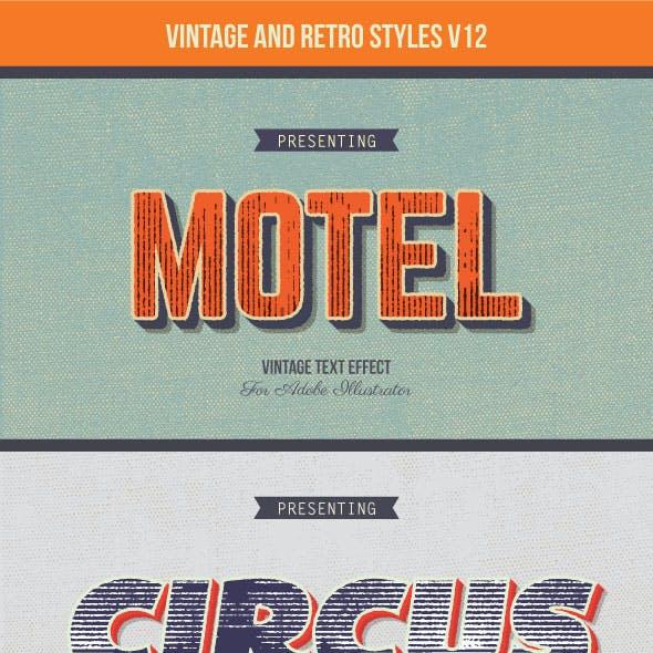 Vintage and Retro Styles V12