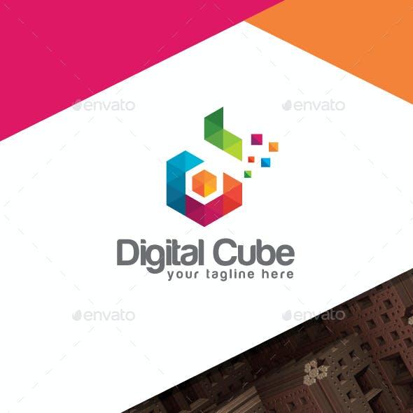 Digital Cube - Colorful Letter D Logo V2