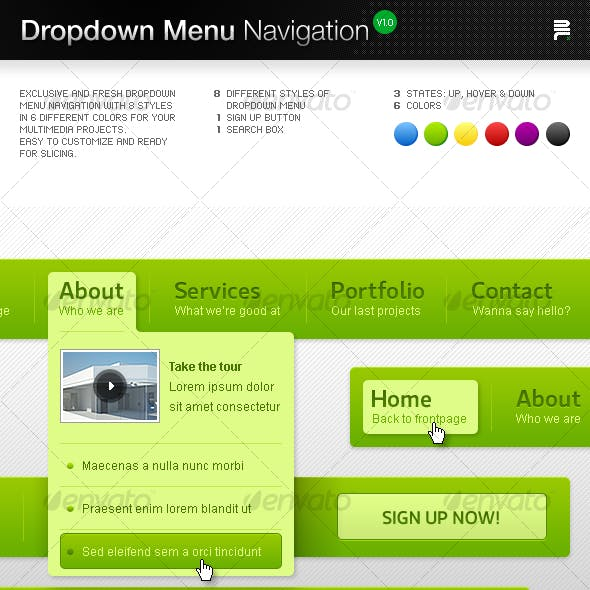 Dropdown Menu Navigation