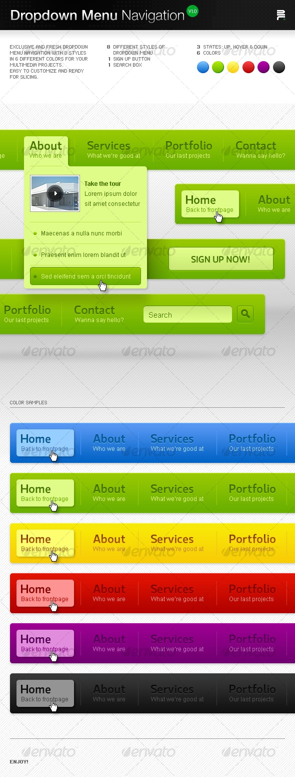 Dropdown Menu Navigation - Miscellaneous Web Elements