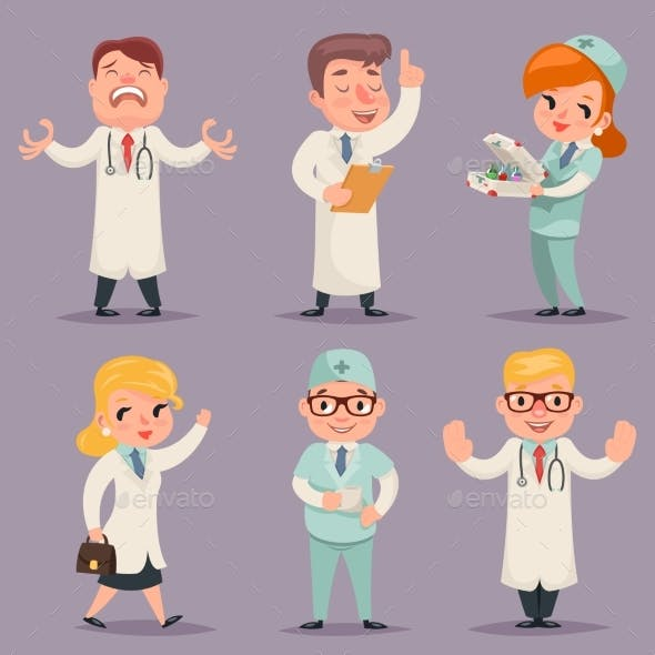 Doctor Different Positions And Actions Character