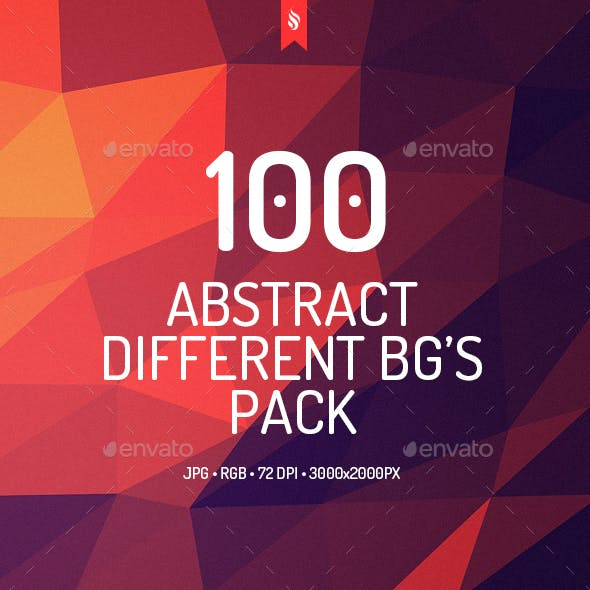 100 Different Abstract Backgrounds Bundle