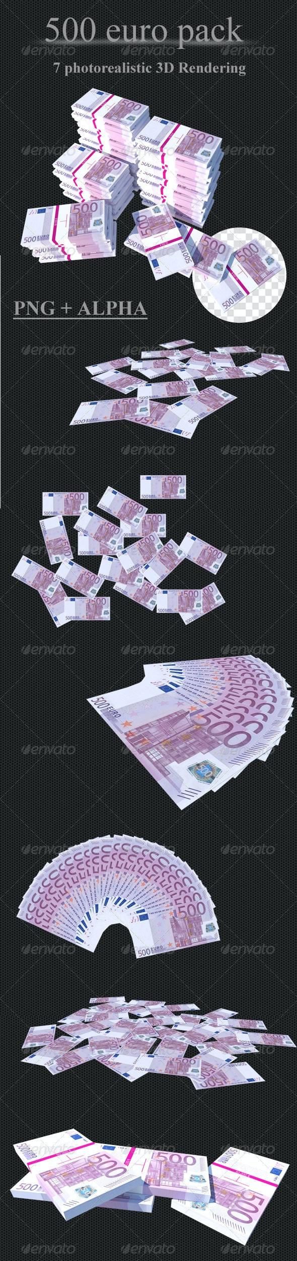 500 Euro // Pack - 3D Renders Graphics
