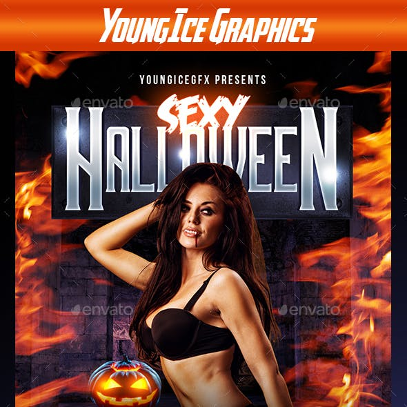 Sexy Halloween Flyer Template