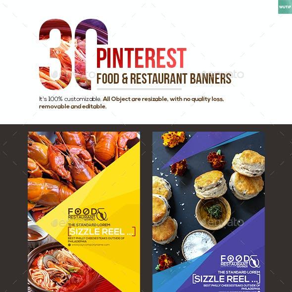 30 Pinterest Food & Restaurant Banners