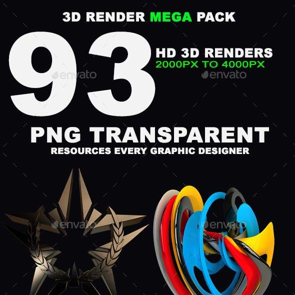 3D Render Mega Pack