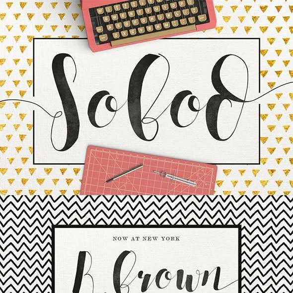 Sobod Typeface by maulanacreative