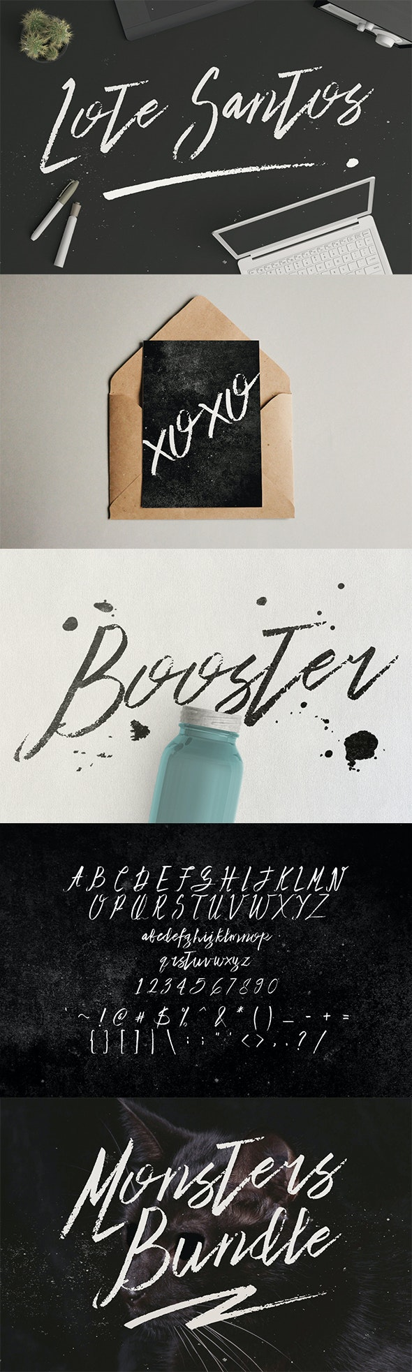 Lote Santos - Handwriting Fonts