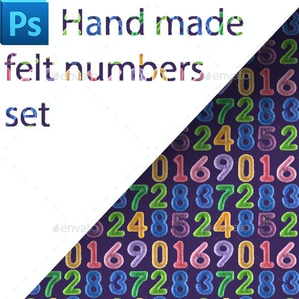Felt Numbers Set (0-9)