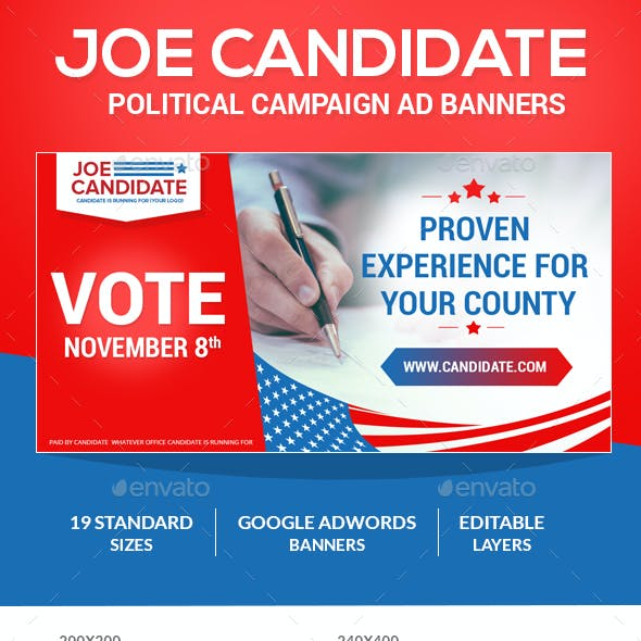 Joe Candidate (Web Banner Ads)
