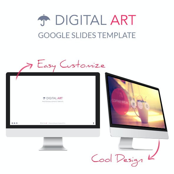 Digital Art - Google Slides Presentation Template