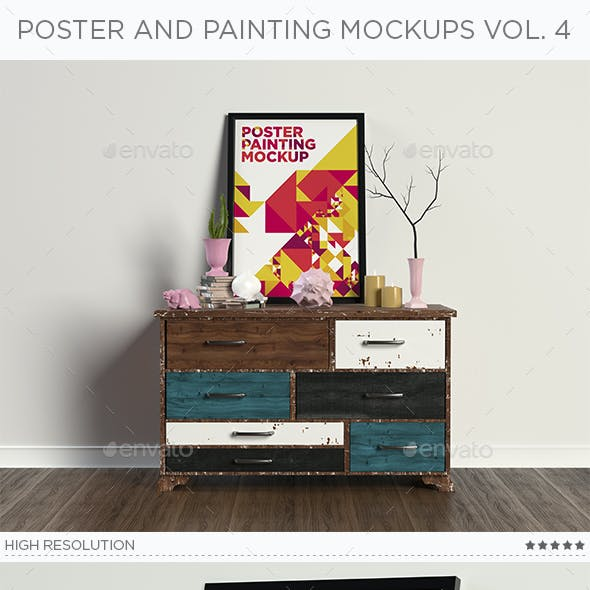 Poster Painting Interior Mock-ups Vol. 4
