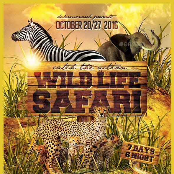 Wild Life Safari Tour Flyer