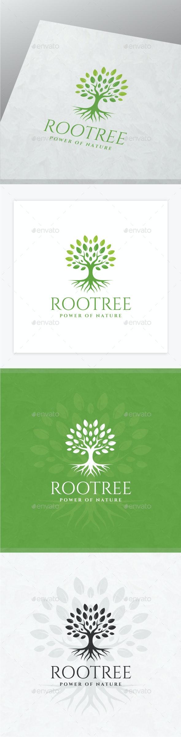 Root Tree Logo - Nature Logo Templates