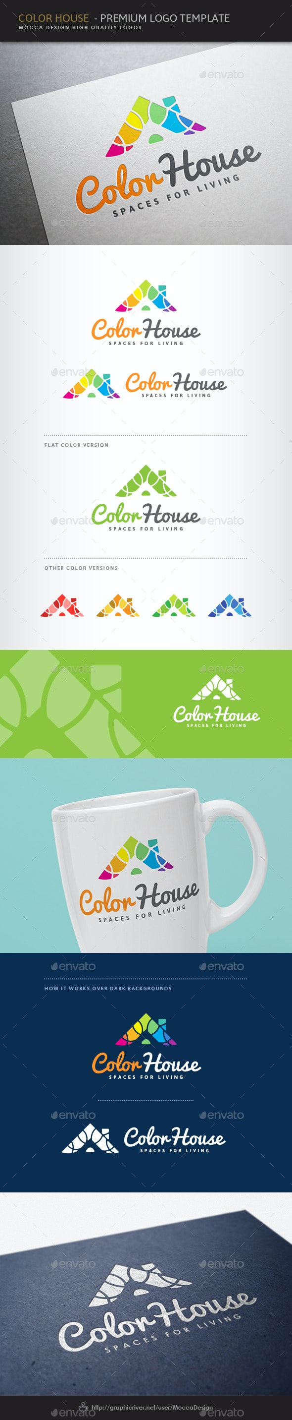 Color House Exclusive Logo - Buildings Logo Templates