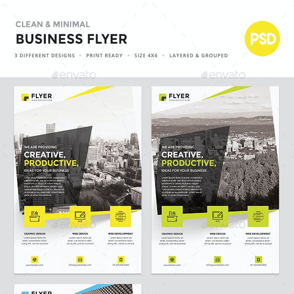 Corporate Minimal Flyer Template
