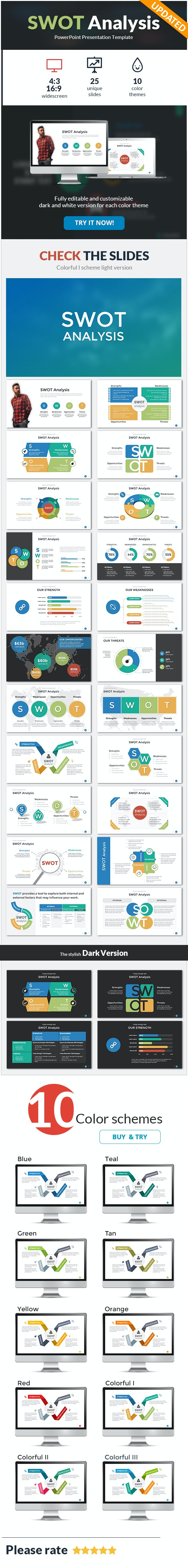 SWOT Analysis PowerPoint Template - PowerPoint Templates Presentation Templates