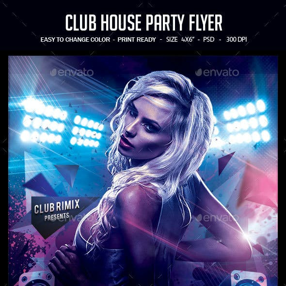 Club House Party Flyer