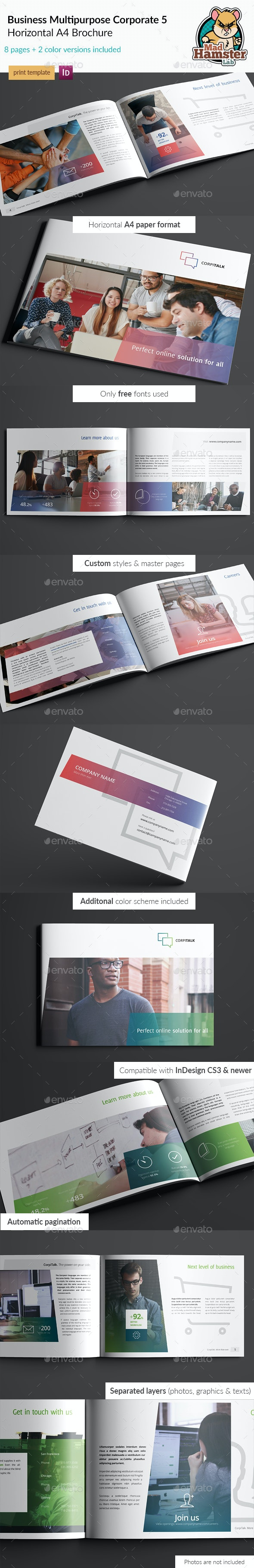 Business / Corporate Multi-purpose A4 Brochure 5 - Corporate Brochures